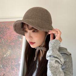 니트 보넷 벙거지 버킷 모자