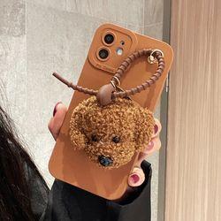 아이폰 13 12 11 pro max xs 8 푸들 인형 키링 케이스