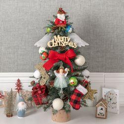 체크로빈그레이트리 75cmP 크리스마스 장식 TRHMES