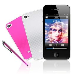 [HICKIES] 아이폰4 전용 케이스 i9와 액정보호필름 터치펜 SET