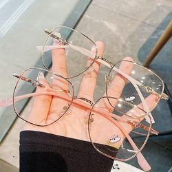 빅사이즈 얇은 뿔테 메탈 패션 안경테 금테 은테