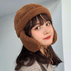 디피 뽀글이 겨울 귀덮개 방한 귀달이모자