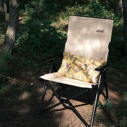 [Hand Dyed Half Cushion Cover] Banana Leaves - Mustard
