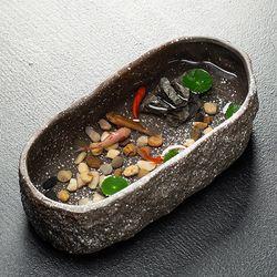 미니연못 천연가습 돌무늬 금붕어 수반어항 (31.5cm)