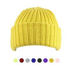 [디꾸보]볼드 골지 숏 비니 남녀공용 모자 ET760