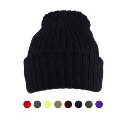 [디꾸보]볼드 골지 비니 남녀공용 모자 ET759