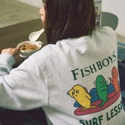 피쉬 보이즈 스웨트 셔츠 (멜란지그레이)