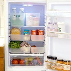 국내생산 반투명 냉장고 수납정리함 XS (뚜껑형) 4P