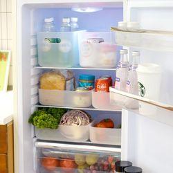 국내생산 반투명 냉장고 수납정리함 S (오픈형) 2P
