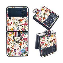 갤럭시Z 플립3 포인트링 플라워 하드 휴대폰 케이스