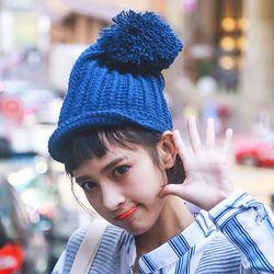마가렛 왕방울 겨울 니트 비니 모자