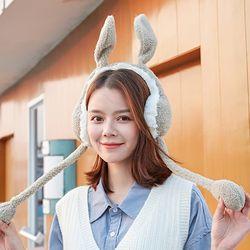 티앙 귀여운 토끼귀 방울 귀달이 귀도리 방한상품