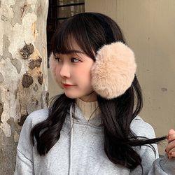 라솜 여성 겨울 페이크 퍼 귀도리 귀마개