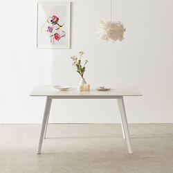마리메종 플로 세라믹 식탁테이블 4인 원목다리
