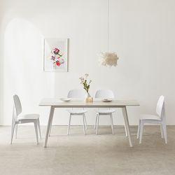 마리메종 플로 세라믹 식탁 6인 의자4개세트 원목다리