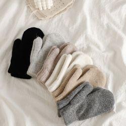 울 앙고라 벙어리 장갑 겨울 방한 남녀공용 장갑