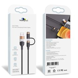 4In1 CABLE 갤럭시 고속 충전 케이블 USB PD 타입