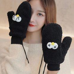 디코니 귀여운 겨울 털 벙어리 장갑