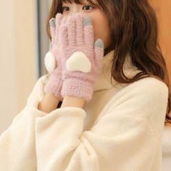 하이티 따듯한 스마트폰터치 겨울 털장갑