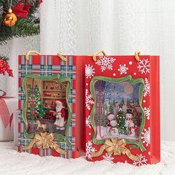 크리스마스 쇼핑백 워터볼 오르골 (2type)