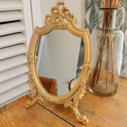 르네상스 벽걸이 탁상 겸용 스탠드거울 화장거울