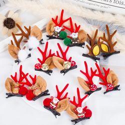 돌프 크리스마스 루돌프 뿔 머리핀 헤어집게핀