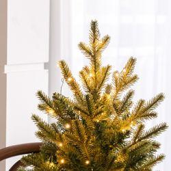 반딧불같은 고급 지네전구 100구 건전지형 크리스마스 트리 조명