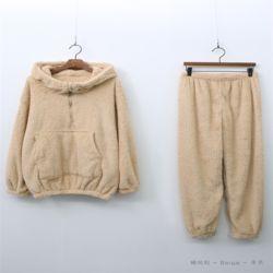 여자 겨울 푸딩 후드 곰 베어 꾸안꾸 귀여운 잠옷세트