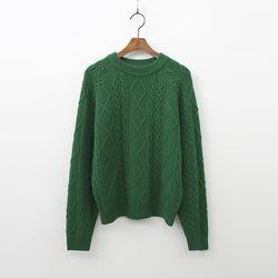 Cashmere Wool Twist Crop Sweater
