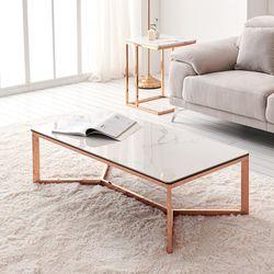 몬스 1200 세라믹 로즈골드 거실 소파 테이블 CNM119