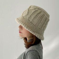 꽈배기 여성 겨울 니트 모자