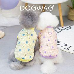 도그웨그 스마일 패딩 조끼 강아지 겨울 아우터 애견 의류