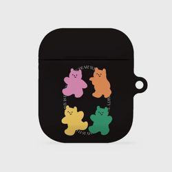 4 colors gummy bear [hard 에어팟케이스]