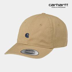 칼하트WIP Madison Logo Cap (Leather / Dark Navy)