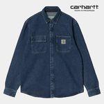 칼하트WIP Salinac Shirt Jac (Blue Stone Washed)