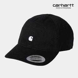 칼하트WIP Madison Logo Cap (Black / White) 볼캡