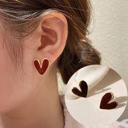 리그틴 하트모양 패션 귀걸이