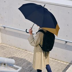 wpc우산 백팩 보호 남자여자 자동 장우산 UX04