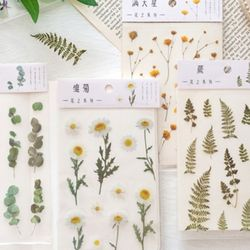 압화 꽃 플라워 식물 다꾸 데코 스티커 6종