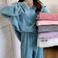 트라니 포근한 골지 홈웨어 수면 잠옷세트