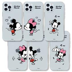 디즈니 미키 앤 미니 커플 클리어케이스 아이폰 7+ 8+