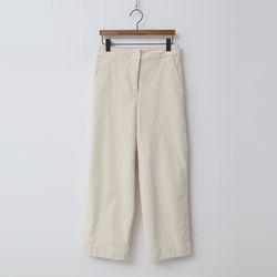 Corduroy Crop Wide Pants