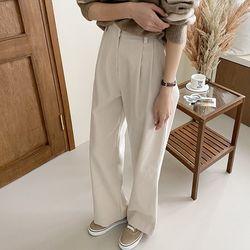 Oh Corduroy Pintuck Wide Pants