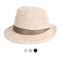 [디꾸보]삼각띠 배색 페도라 울 모자 DCH-AC887