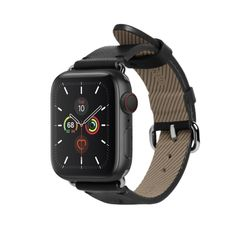 LEATHER STRAP FOR APPLE WATCH BLACK 40mm