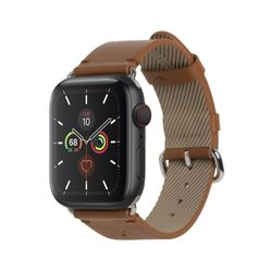 LEATHER STRAP FOR APPLE WATCH BROWN 44mm