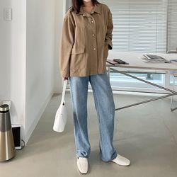 여자 겨울 감성적인 인디패션 포인트 포켓 루즈핏 자