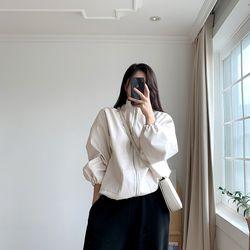 여자 겨울 힙한 박시 스트링 레더 카라 포켓 자켓