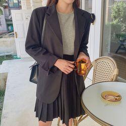 여자 겨울 기본 단정한 면접룩 하객 오버핏 모던 자켓