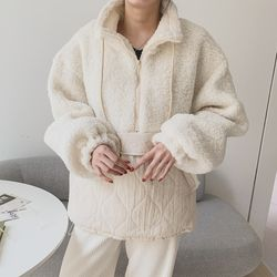 여자 겨울 꾸안꾸 퀄팅 귀여운 아노락 양털 패딩
